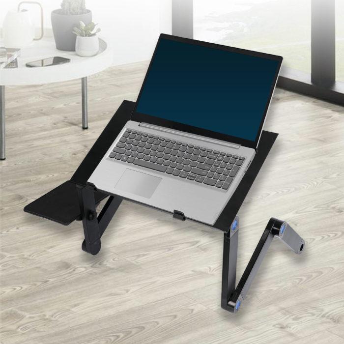 Mesa articulada para ordenador portátil con refrigeración y soporte para ratón BN1036 ideal teletrabajo