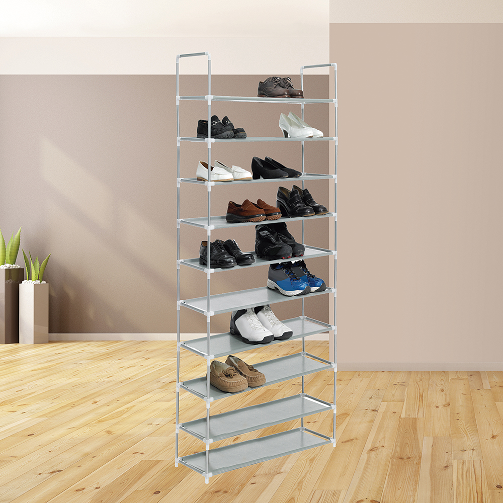 Zapatero de lona organizador de zapatos de 10 baldas hasta 40 pares de zapatos BN1051/12
