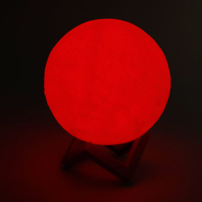 Lámpara de luna 3D táctil 18cm multicolor Led BN2223