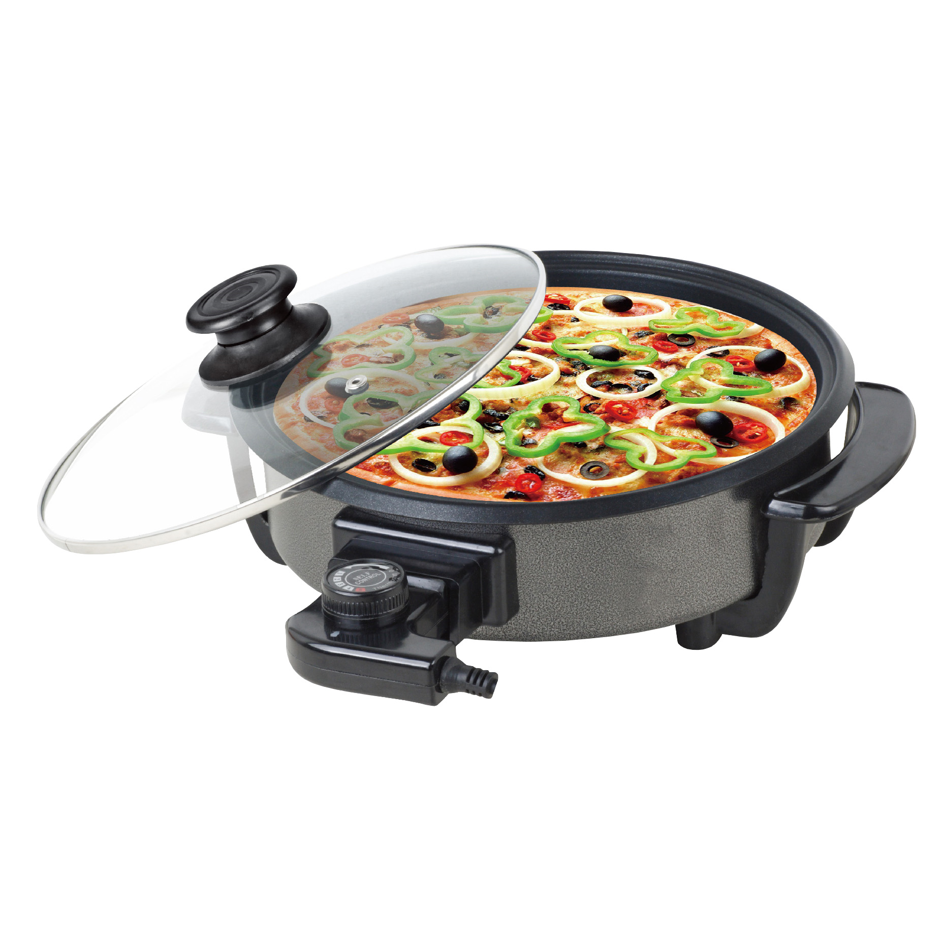Paellera We Houseware BN3457 pizza pan eléctrica de 42cm 1500W