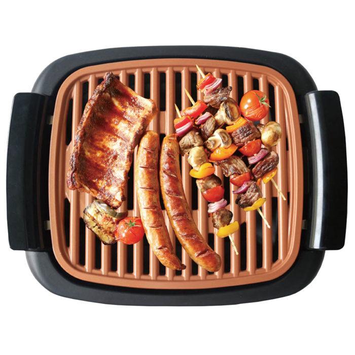 Grill eléctrico sin humos antiadherente 1000w BN3672