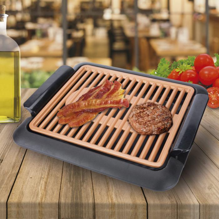Grill eléctrico sin humos antiadherente 1250w BN3676