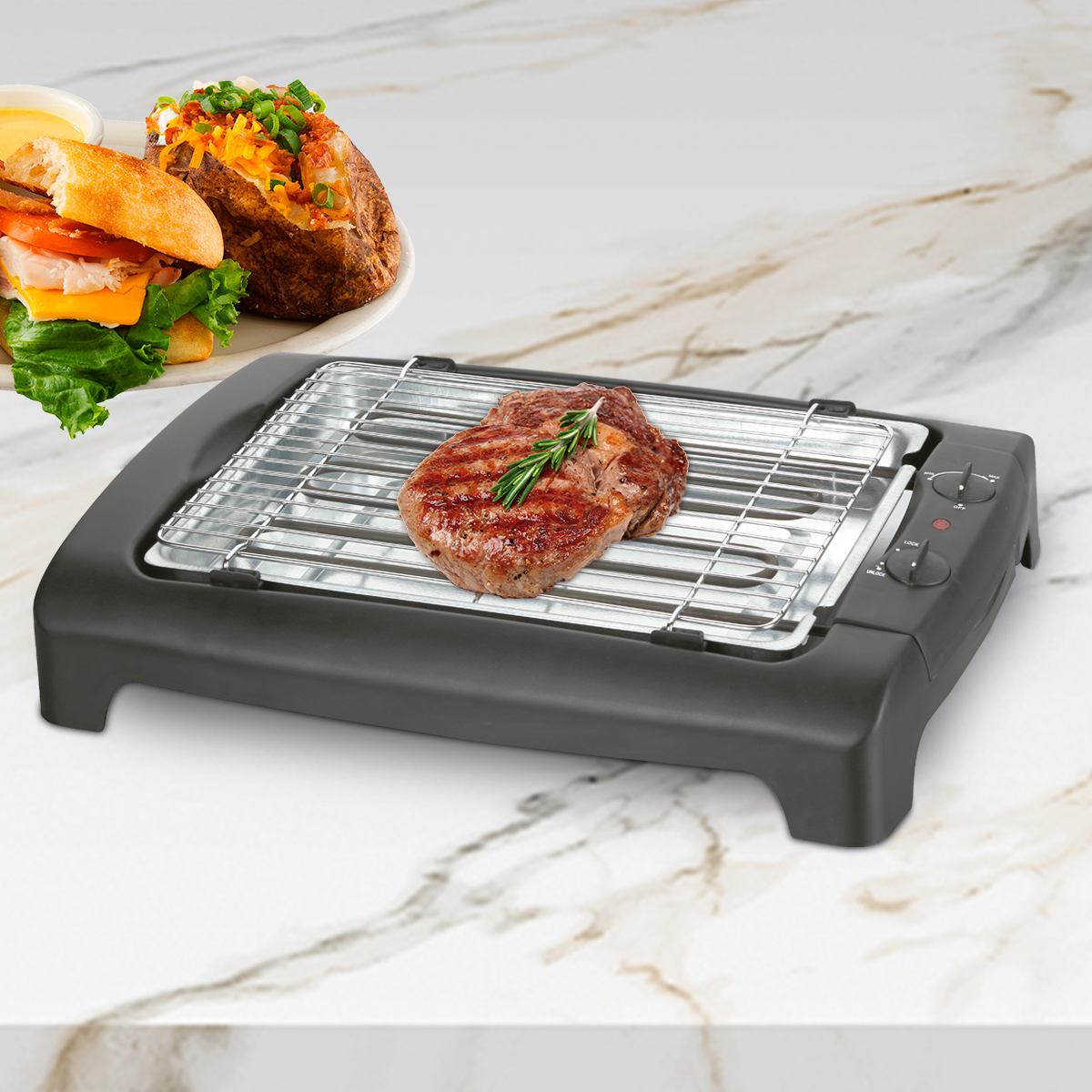 Barbacoa grill eléctrico 2000W BN3689