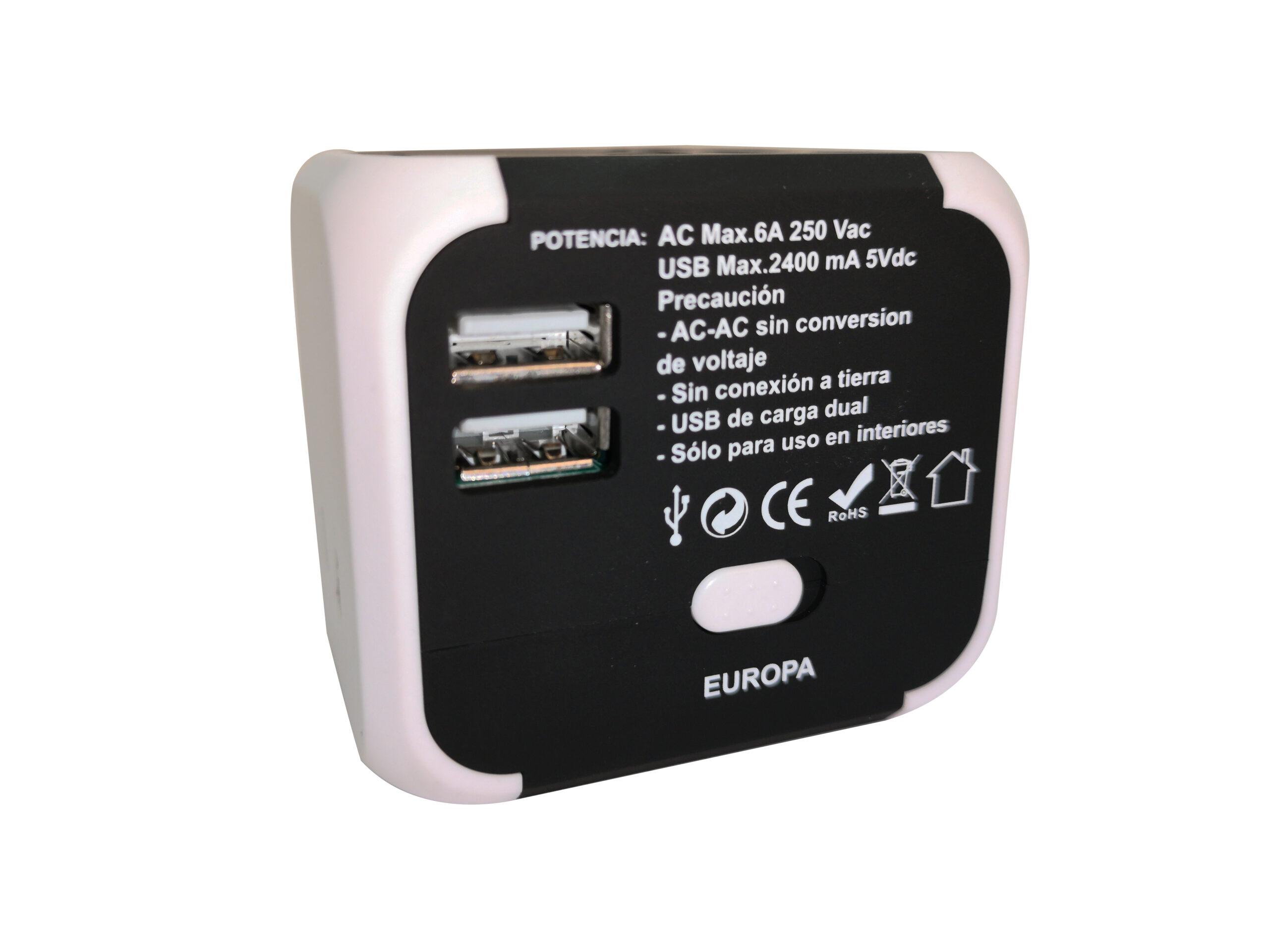 Enchufe adaptador universal usb BN3803