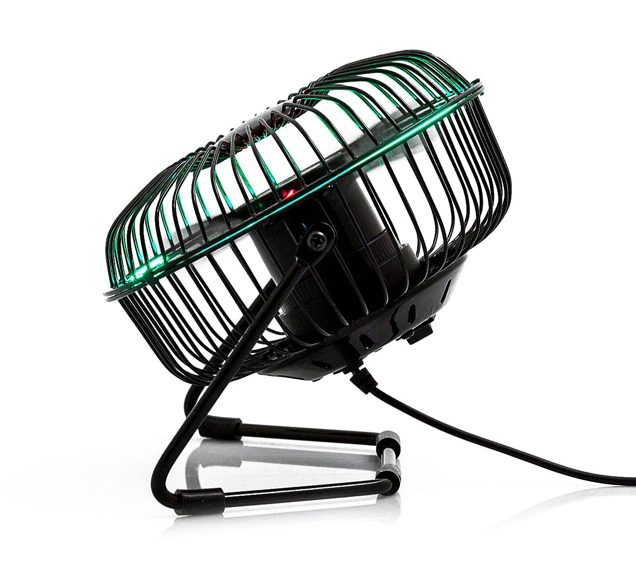 """Ventilador 4"""" LED temperatura y hora BN4002"""