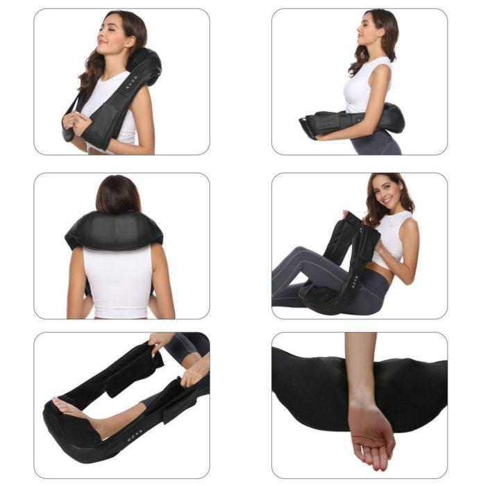 Masajeador para cuello y hombros 4D rotación con vibración y función de calefacción BN4310