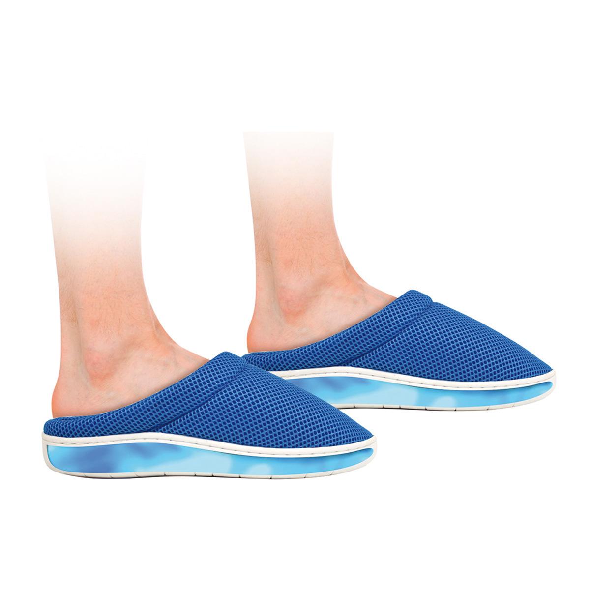 Zapatillas ultra suaves con gel y Bambú azules