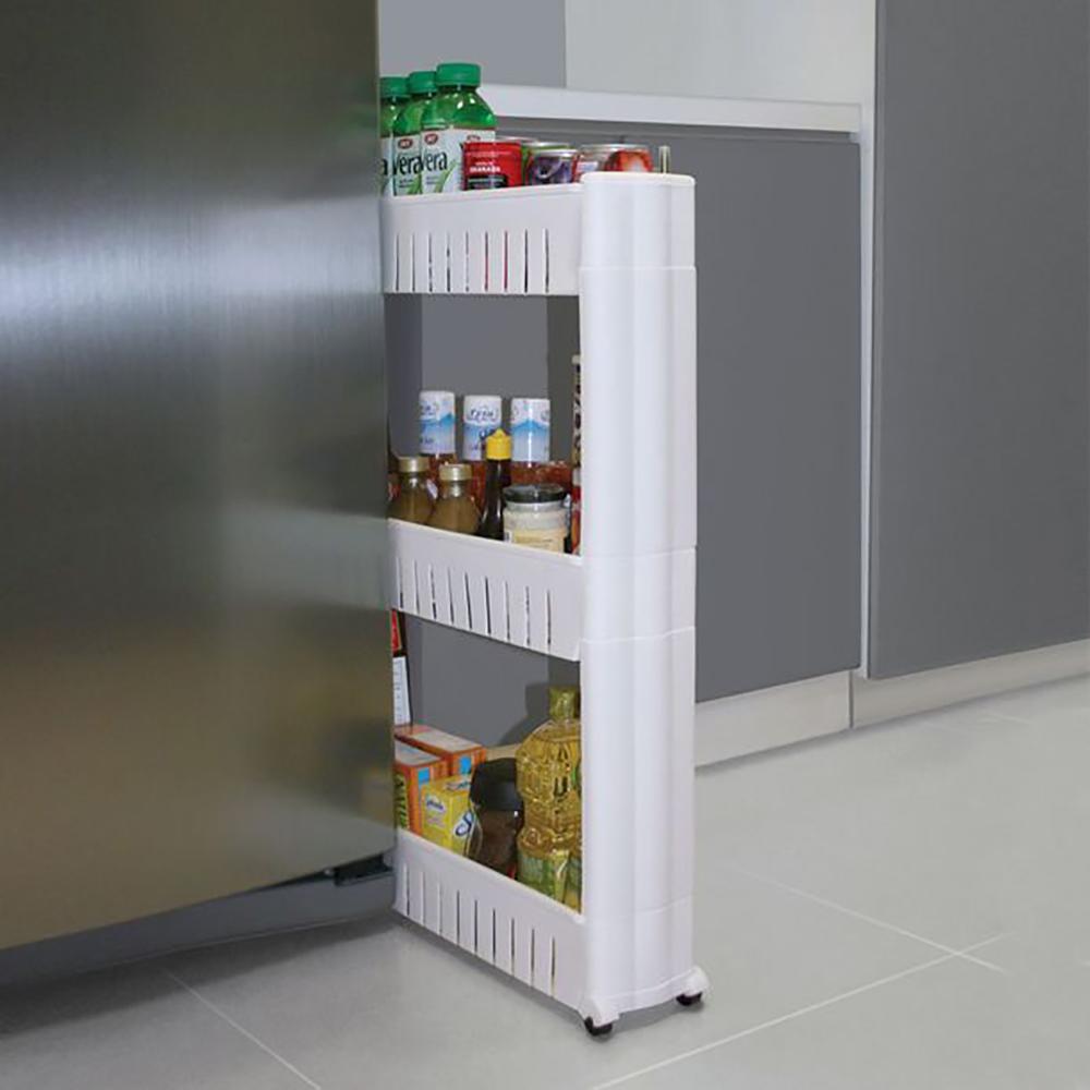Carrito organizador con ruedas para cocina y baño en 3 alturas BN5310