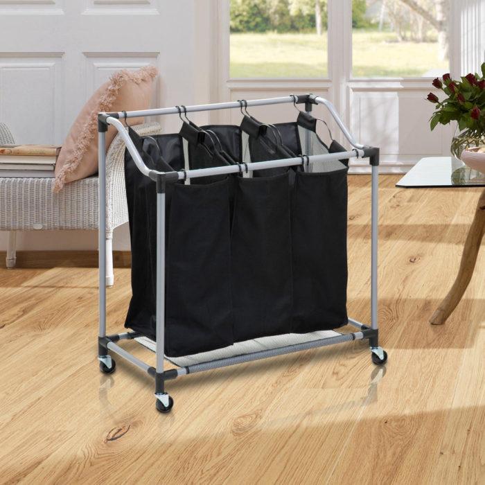 Carrito de lavandería 3 bolsas BN5663