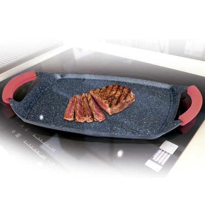 Plancha grill antiadherente en aleación de aluminio BN5701