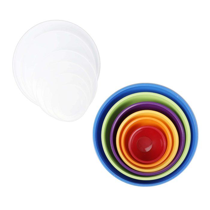 Recipientes de plástico con tapas 12 piezas BN5867