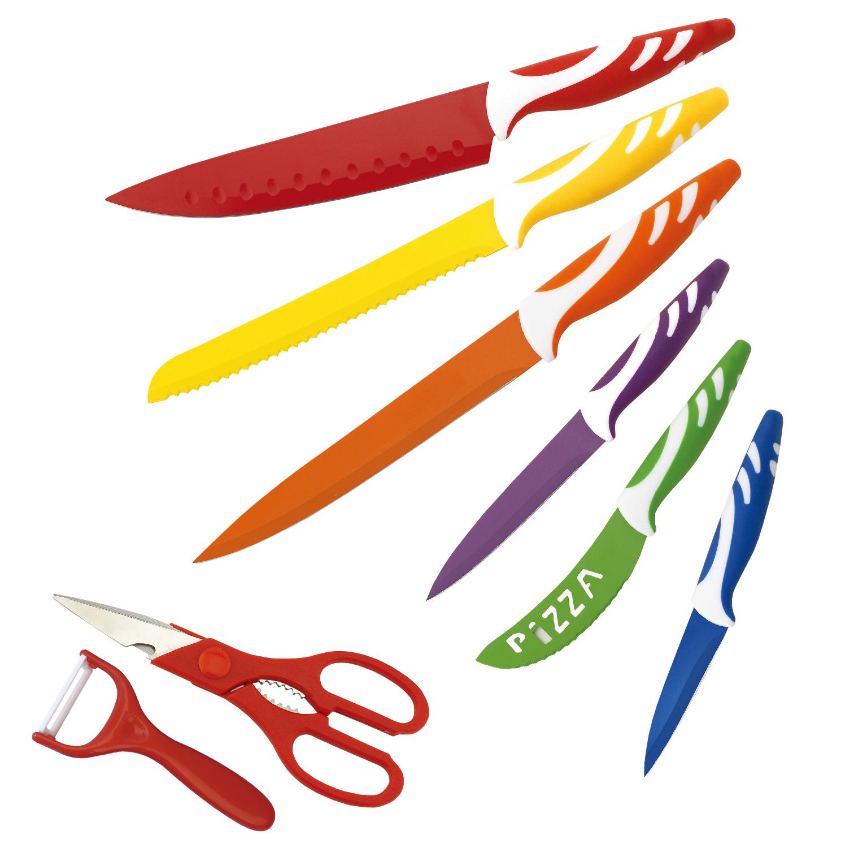 Set de 6 cuchillos más pelador y tijeras BN5929