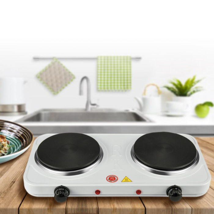 Cocina eléctrica portátil de dos fuego We Houseware BN3655 antiadherente de 2000W
