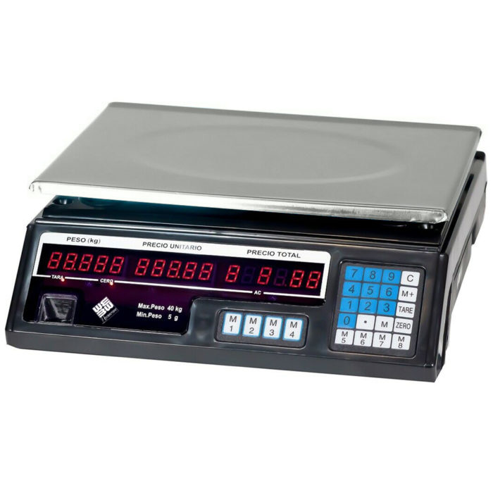 Báscula profesional electrónica digital con memoria y bateria recargable We Houseware BN4753