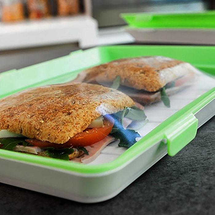 Pack 3 bandejas de envasado de alimentos We Houseware BN5217 apilables y reutilizables