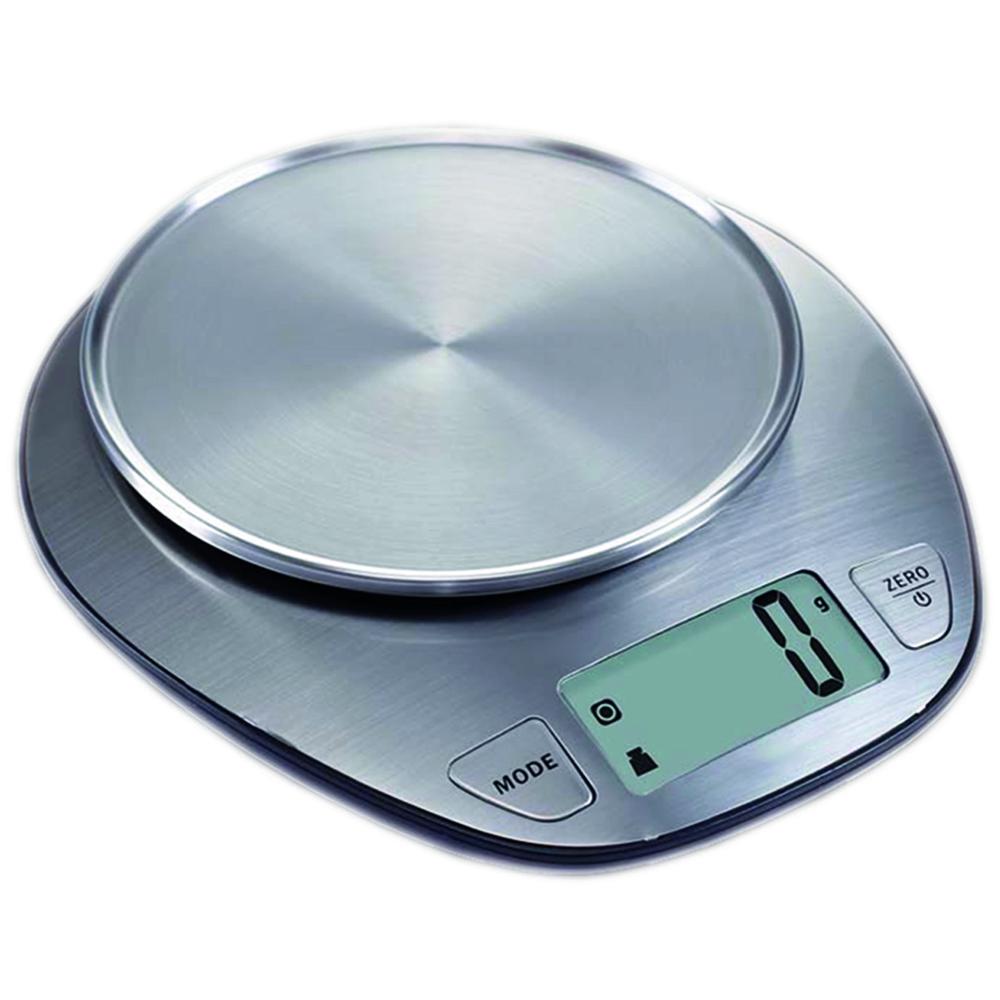 Báscula electrónica de cocina We Houseware BN5982 de peso y volumen en acero inox