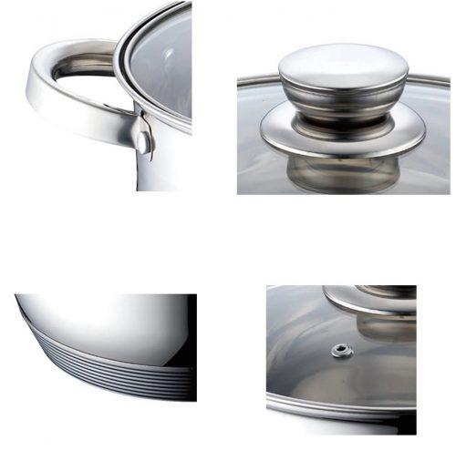 Bateria de cocina 12 piezas Queen Royal QR-8878 en acero inox Royal Z Series