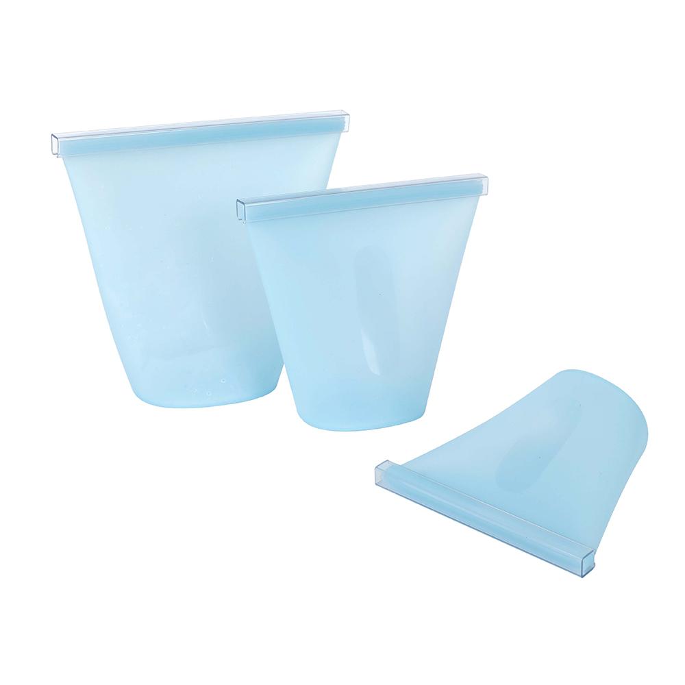 Bolsas de silicona reutilizables We Houseware BN5221 con cierre de PVC