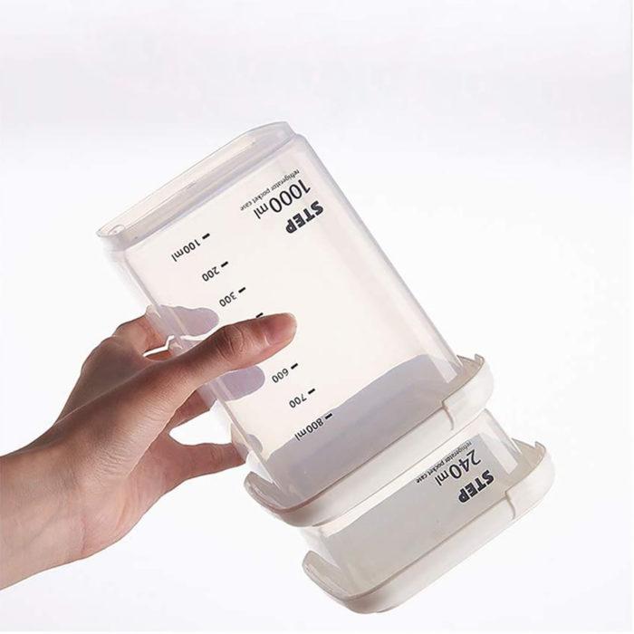 Set de 4 recipientes hermeticos We Houseware BN5750 con medidor