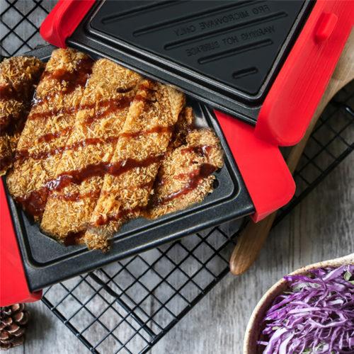 Mini plancha Grill para microondas We Houseware BN5838 de acero antiadherente