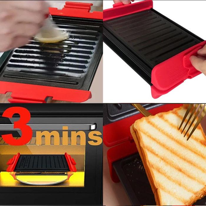 Plancha Grill para microondas We Houseware BN5839 de acero antiadherente